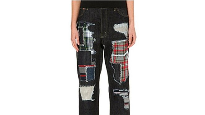 junya-watanabe-patchwork-dropped-crotch-jeans