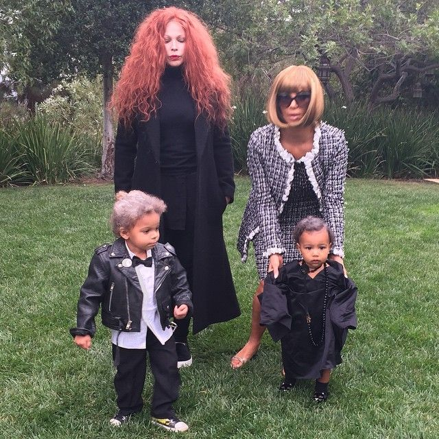 And Kim Kardashian and North West as Anna Wintour and Andre Leon Talley
