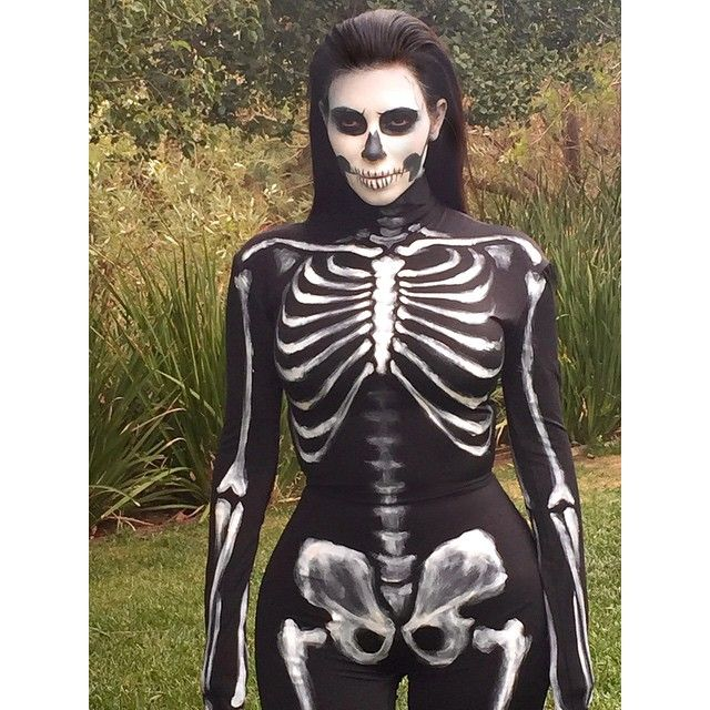 Kim Kardashian as a skeleton