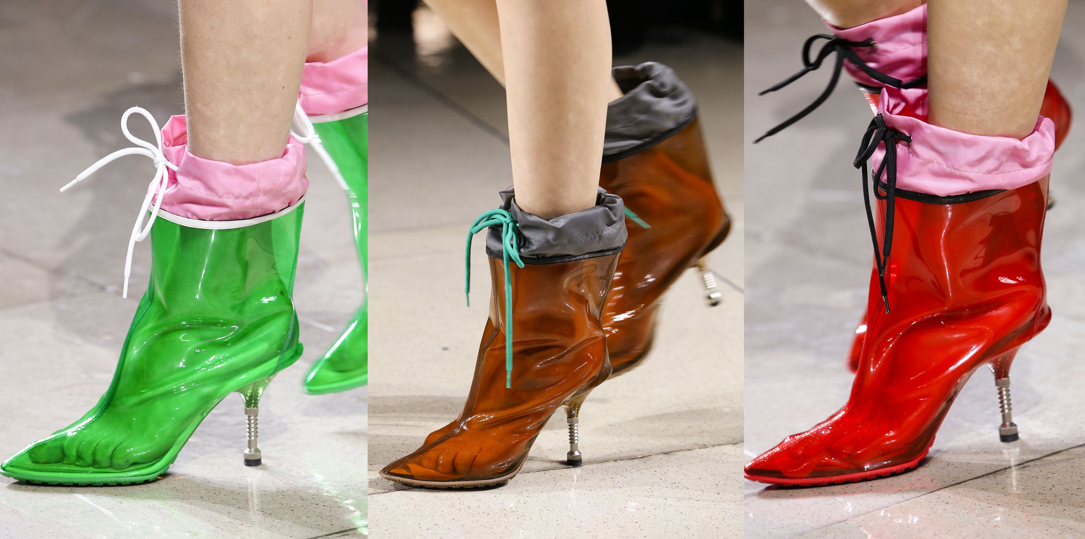 Obsessed with Miu Miu FW14 rain boots with wind-breaker sock: want