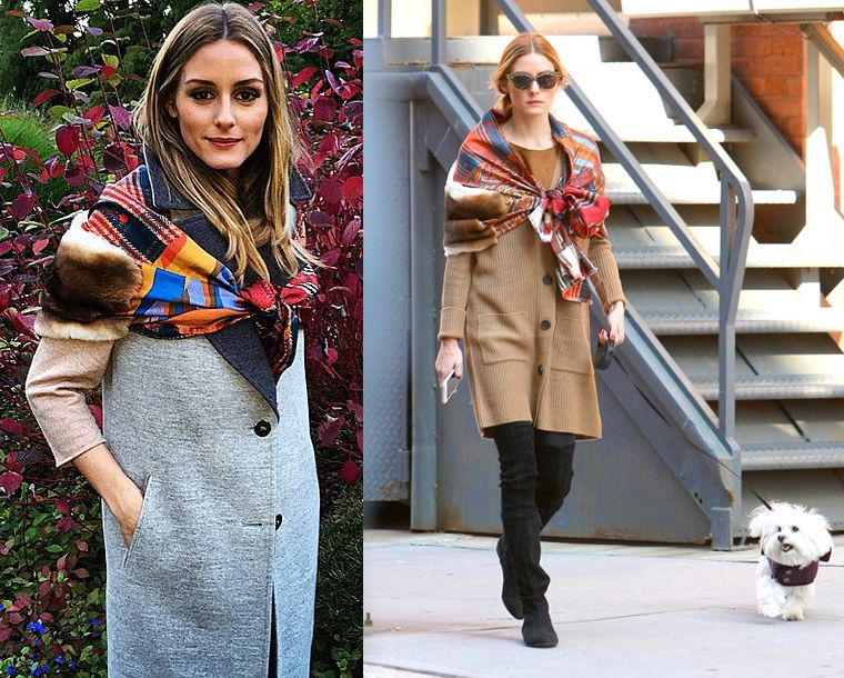 How to style up a scarf like Olivia Palermo