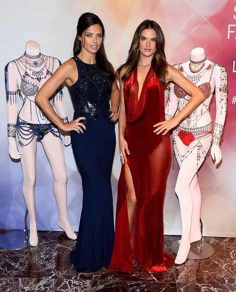 Victoria's Secret Angels Adriana Lima  and Alessandra Ambrosio Debut Dream Angels Fantasy Bra By Mouawad