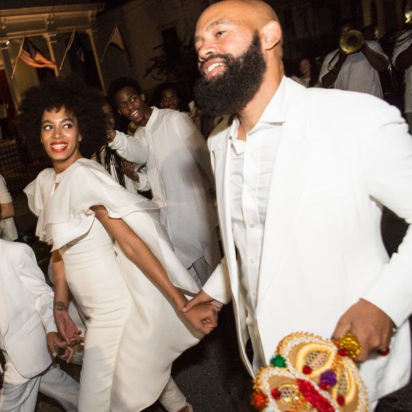 For teh secondline with family and friends Solange wore another Stéphane Rolland jumpsuit