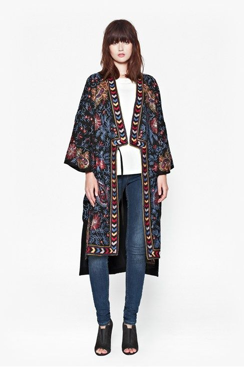 French-Connection-Miko-Stitch-Kimono-Coat
