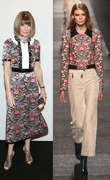 Anna Wintour in custom Louis Vuitton SS15