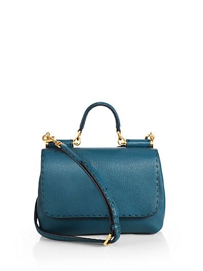 dolce-gabbana-Fold-Over Top-Handle Satchel-sale-saks