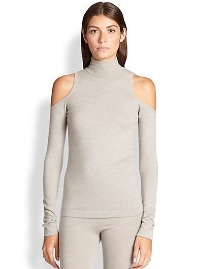 donna-karan-cold-shoulder-turtleneck-sweater