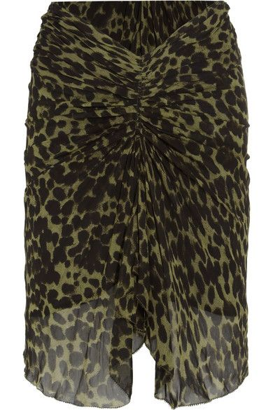 etoile-isabel-marant-animal-print-ruched-skirt