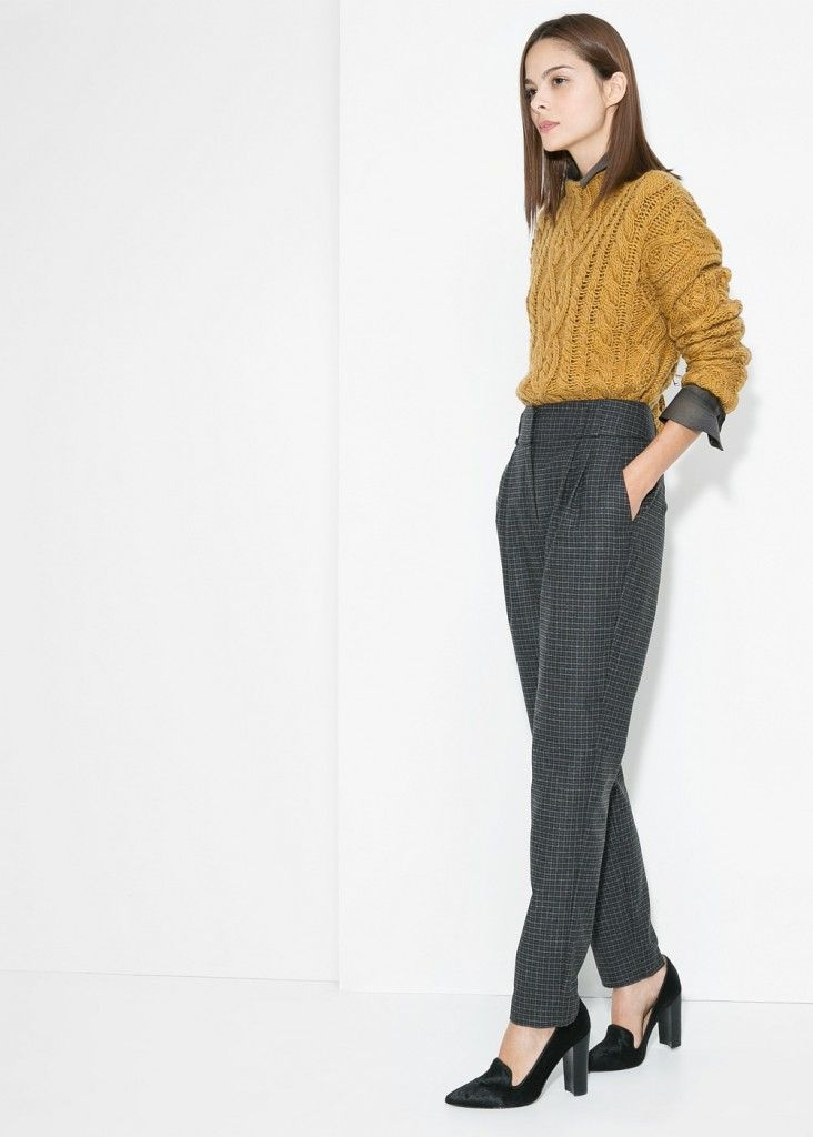 mango-check-wool-blend-trousers