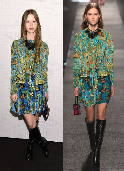 Mia Goth in Louis Vuitton SS15
