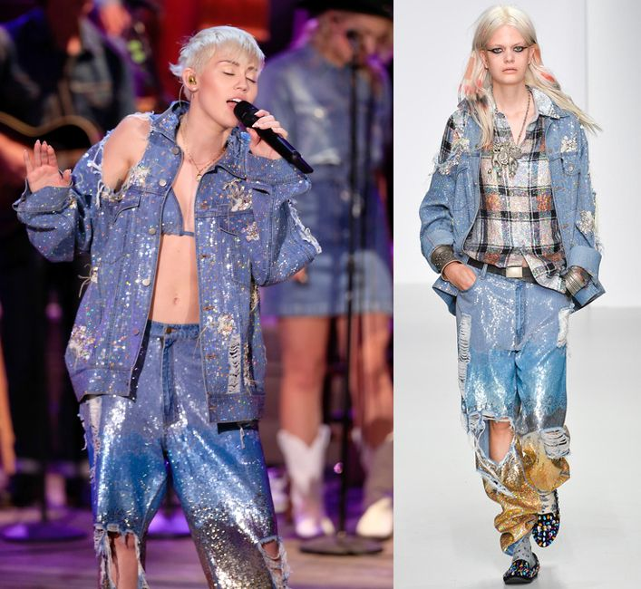 Miley Cyrus in Ashish Spring/Summer 2014 during her MTV Unplugged performance