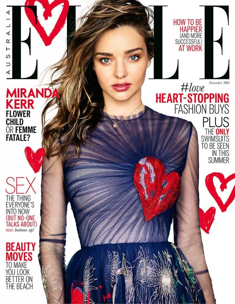 Miranda Kerr on the Vogue Australia November 2014 cover