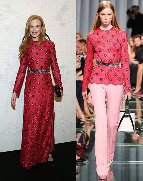 Nicole Kidman in custom Louis Vuitton Resort 2015