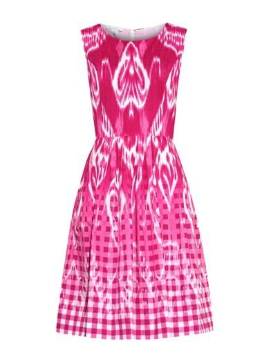 oscar-de-la-renta-gingham-print-dress