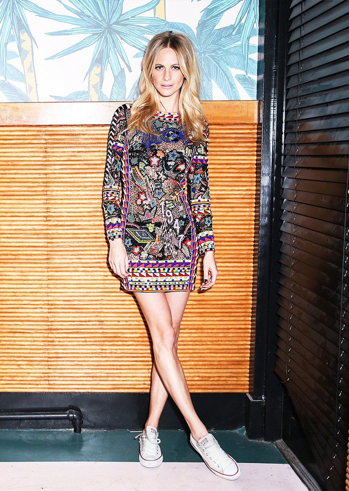 Poppy Delevingne in Pucci SS14 embellished frock