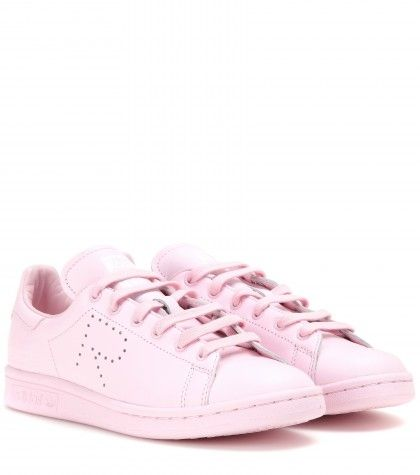 raf-simons-x-stan-smith-pink-leather-sneakers