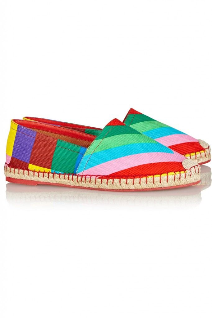 Valentino 1973 printed canvas espadrilles available at NET-A-PORTER