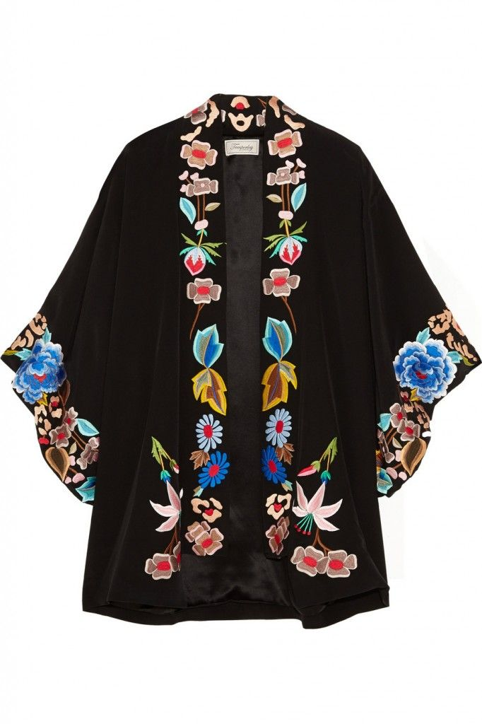 Similat item: Temperley London Baudelaire embroidered silk kimono available at NET-A-PORTER