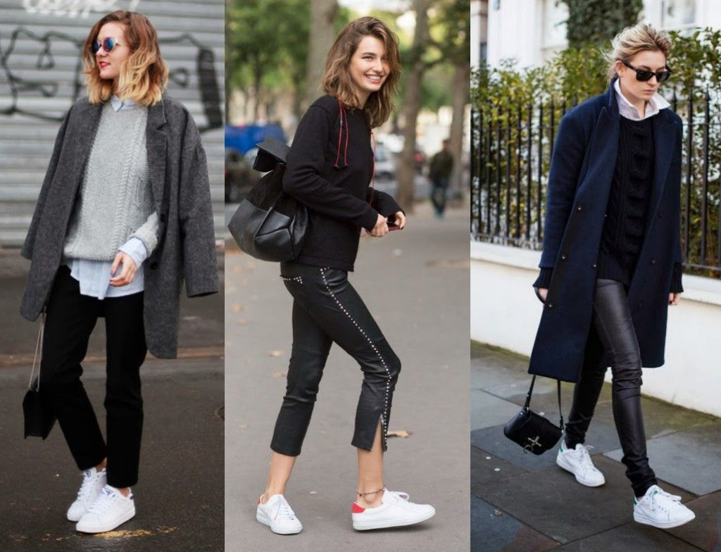 Classic Adidas Stan Smiths street style