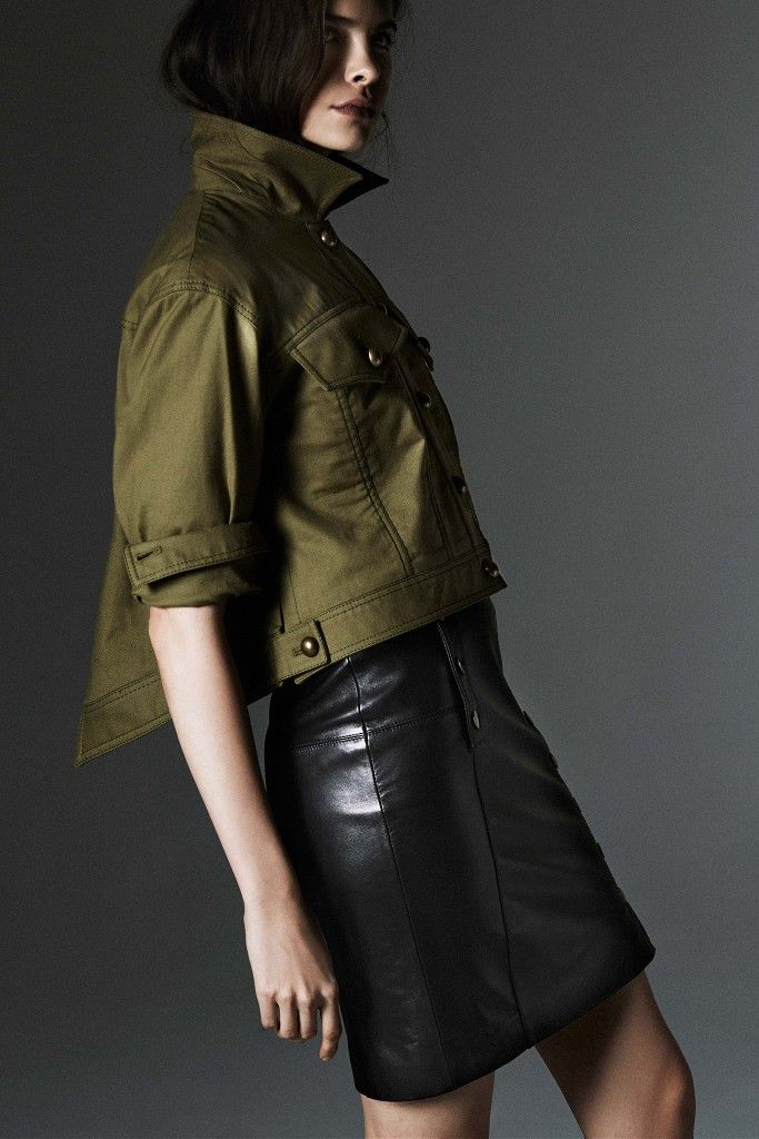 Rebecca-minkoff-pre-fall-2015-cropped-trench-jacket