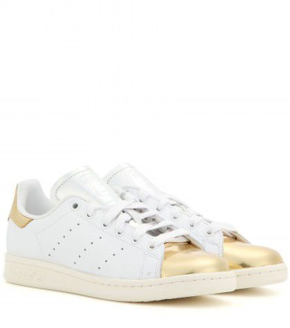 Stan Smith metallic and embossed leather sneakes available at MYTHERESA.com