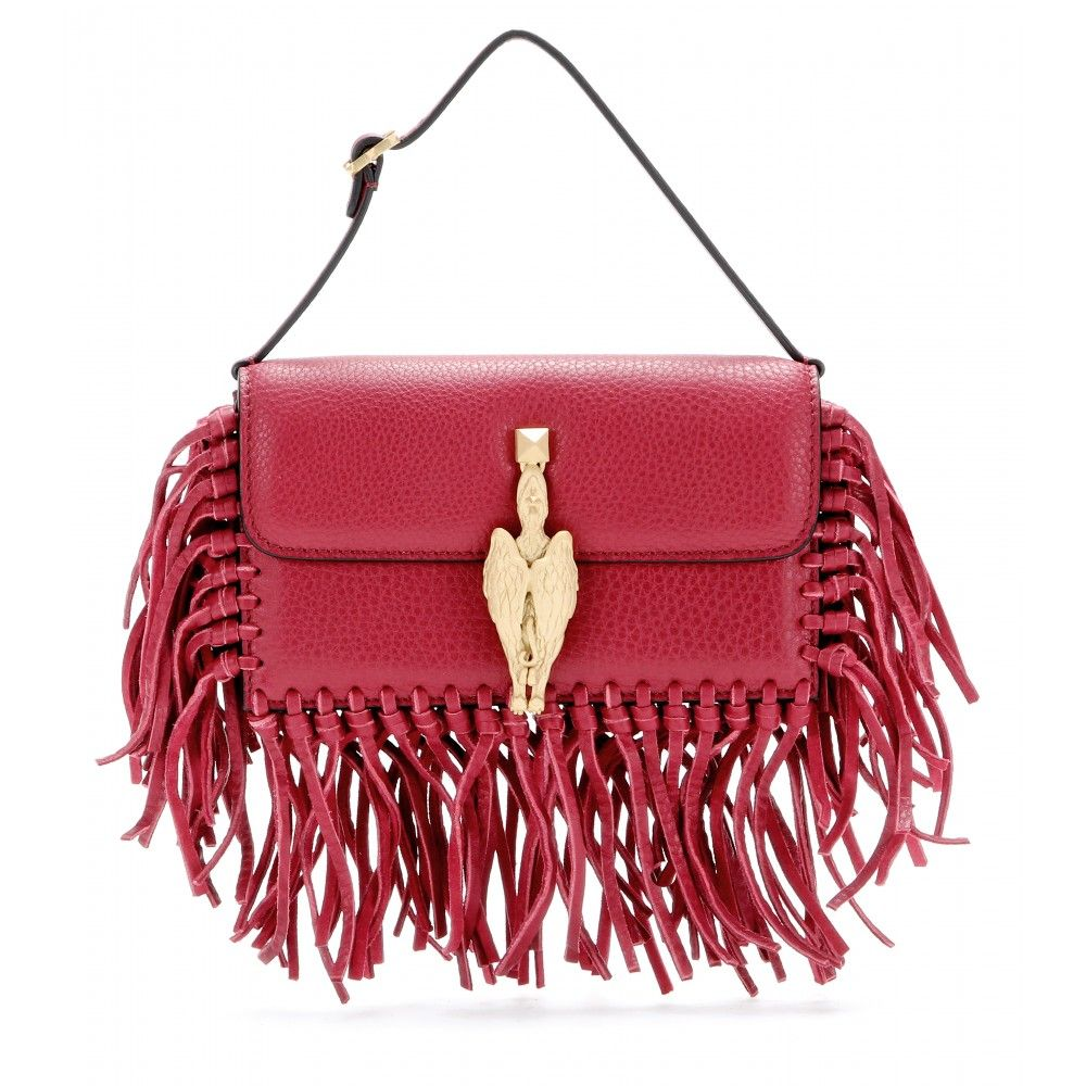 Valentino-Gryphon-fringed-leather-clutch-STANDARD