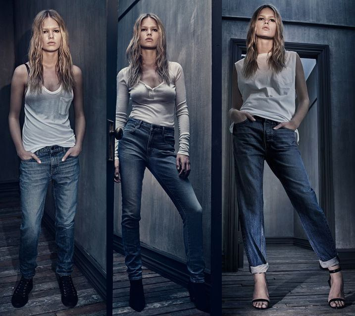 Alexander Wang denim line lookbook with Anna Ewers photographed by Steven Klein