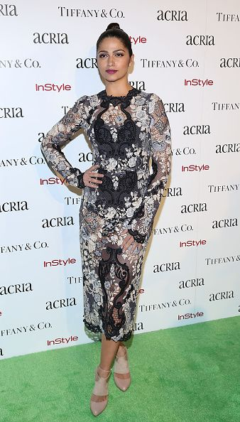 Camila Alves in Bianca Brandolini d'Adda's Dolce & Gabbana dress