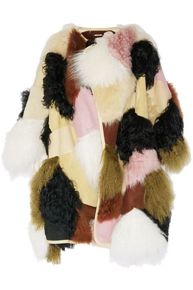 You can buy this patchwork shearling and leather coat at NET-A-PORTER