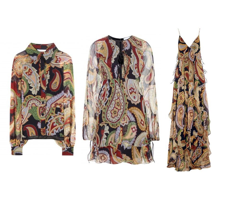 Chloé paisley print silk shirt available at MYTHERESA.com