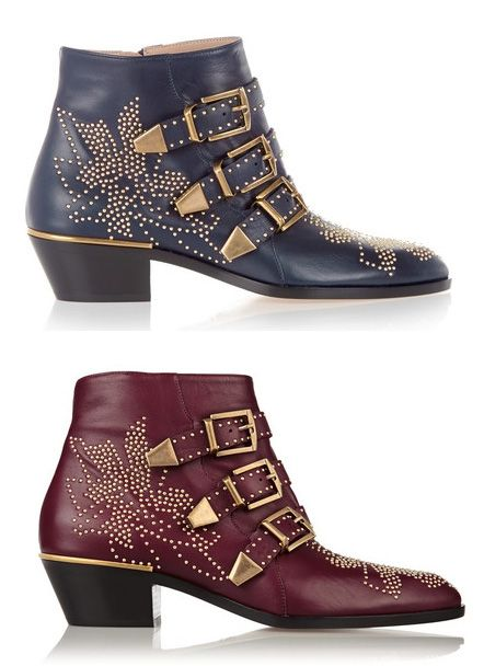 Susanna studded blue leather ankle boots available at NET-A-PORTER