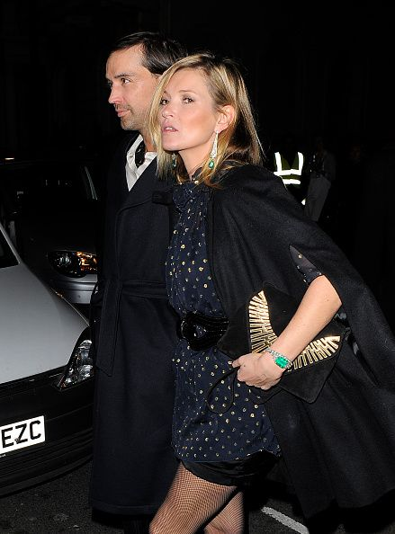 Kate Moss in a Saint Laurent cape