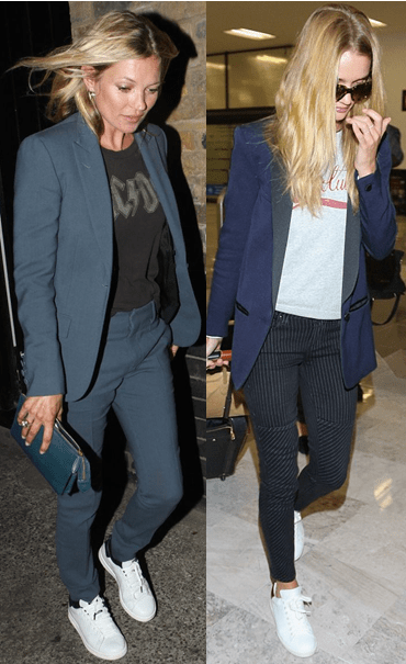 Kate Moss and Rosie Huntington-Whiteley in Isabel Marant sneakers