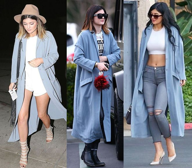 kylie-jenner-asos-duster-coat-three-ways-outfits