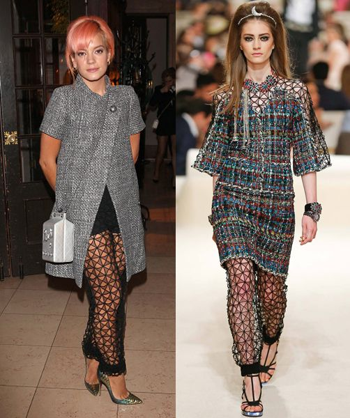 Lily Allen in Chanel Resort 2015