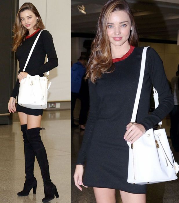 miranda-kerr-sweater-dress-over-the-knee-boots-outfit