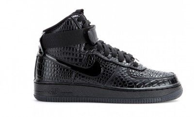 niker-air-force-1-crocodile-effect-black-leather