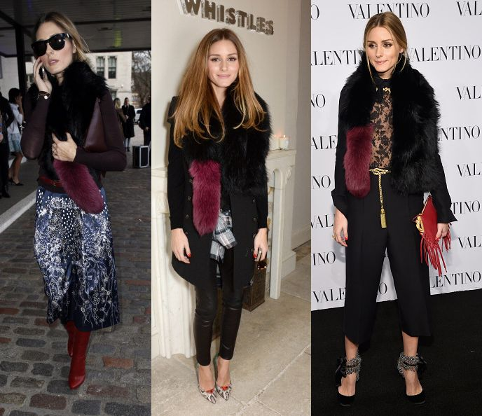 The Olivia Palermo Winter Style Guide To Wearing A Faux Fur Scarf From Day To Night Laiamagazine
