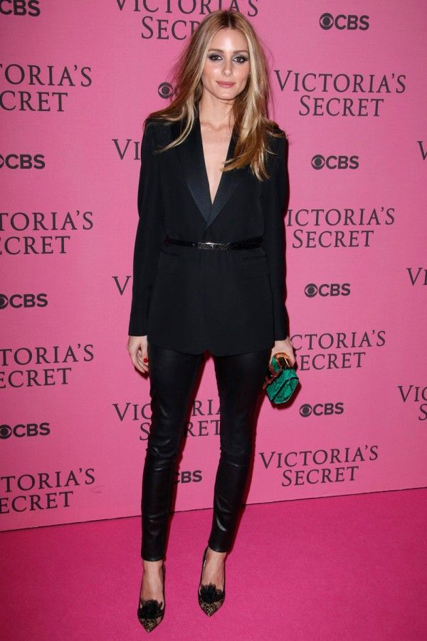 Olivia Palermo hits the Victoria's Secret Fashion Show London 2014 pink carpet