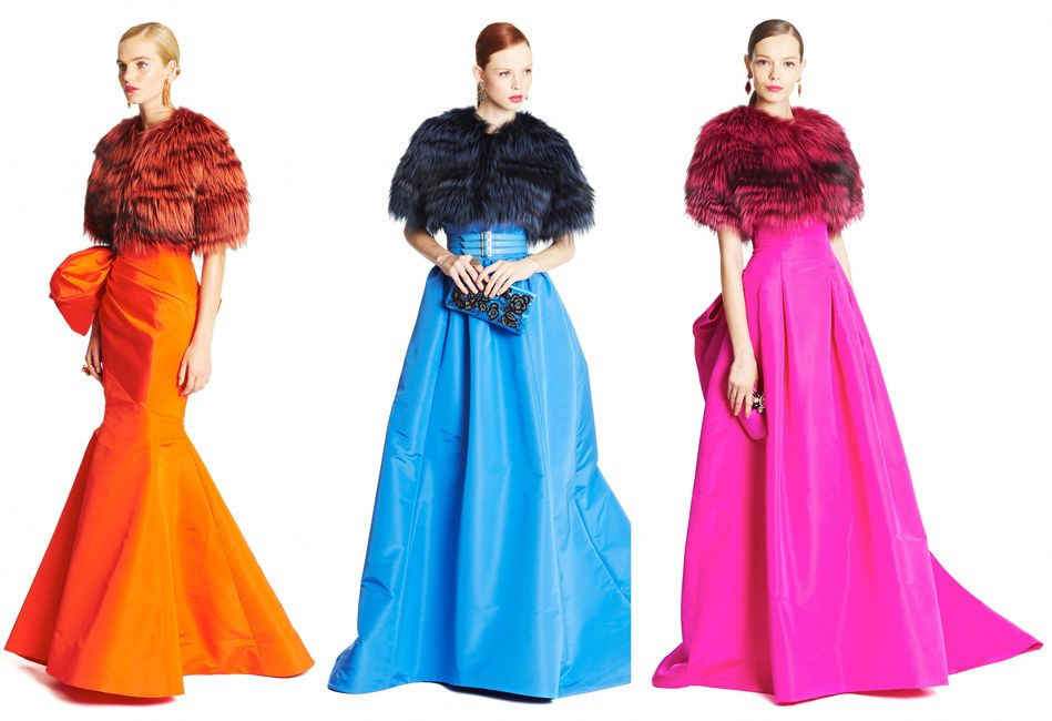 oscar-de-la-renta-pre-fall-2015-multicolor-gowns