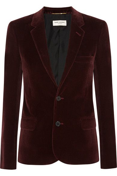 saint-laurent-burgundy-celvet-blazer