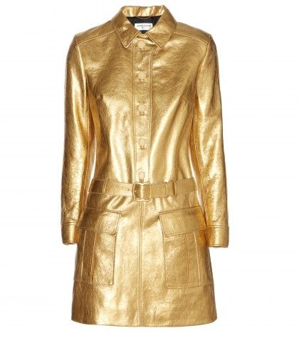 saint-laurent-metallic-leather-dress