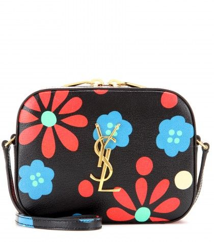 Multicoloured flowers leather shoulder bag available at MYTHERESA