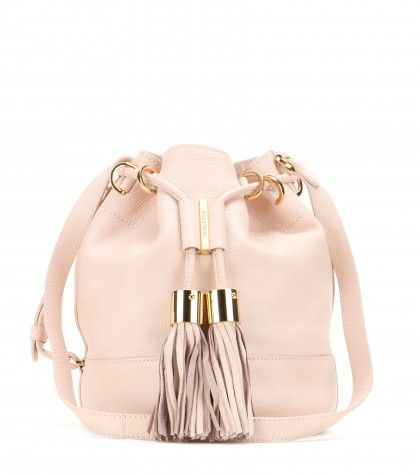 See by Chloé leather bucket bag available at MYTHERESA