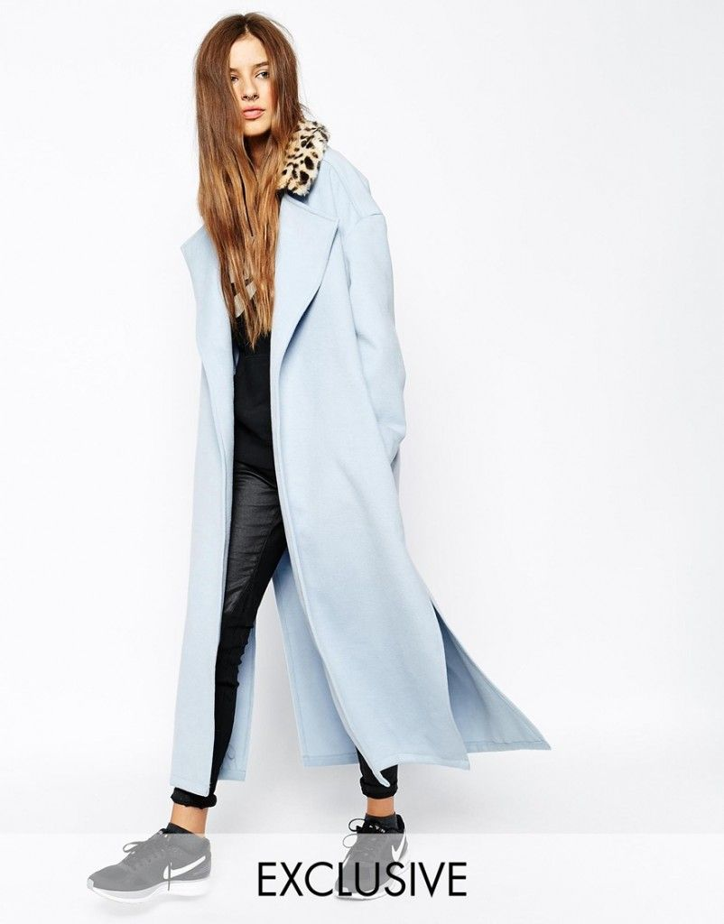 story-of-lola-duster-coat-with-faux-fur-leopard-collar
