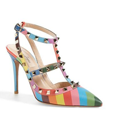 Valentino 1973 Rockstud T-Strap pumps available at NORDSTROM.com