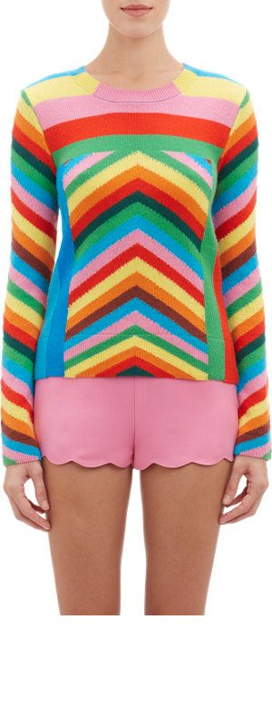 valentino-rainbow-chevron-cashmere-sweater