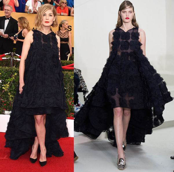 Rosamund Pike simply chose the wrong Dior Haute Couture Spring 2013 frock