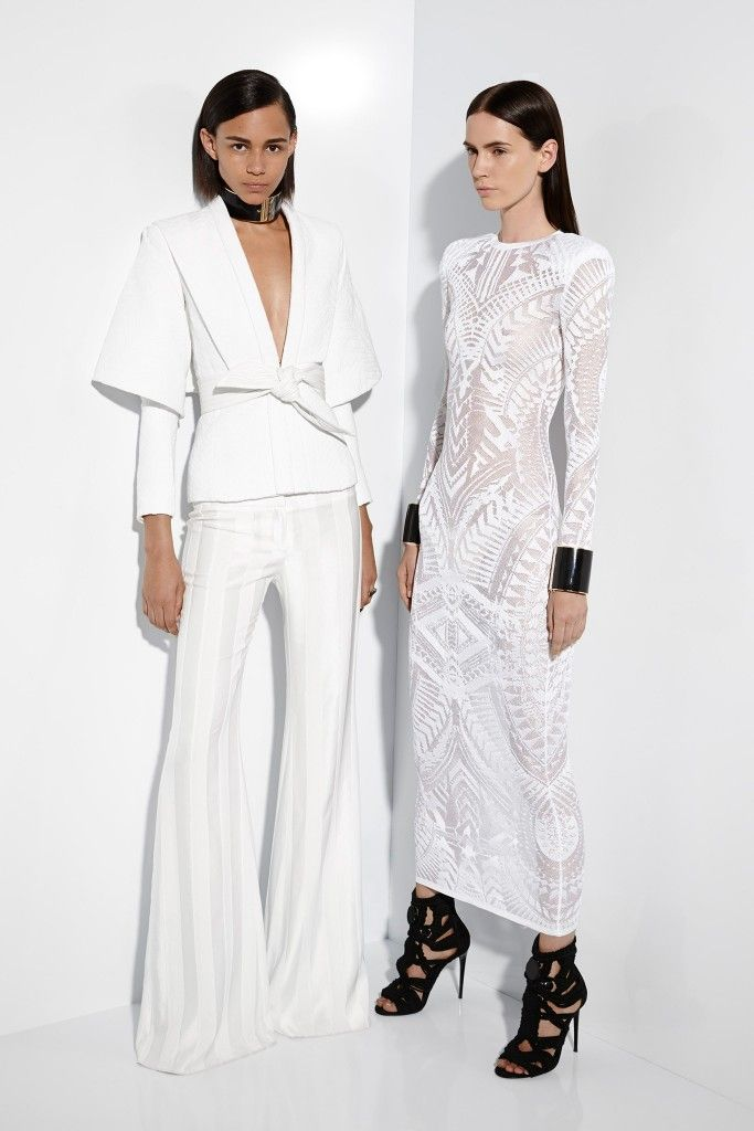 Balmain-resort-2015-white-knit-dress