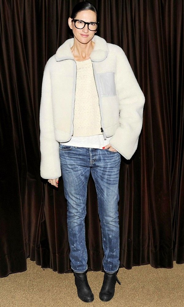 Jenna-Lyons-in-altuzarra-shearling-aviator-jacket
